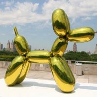 Escultura de Jeff Koons colapsó